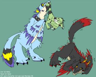 Raptor Flea Removal by kitty-chan