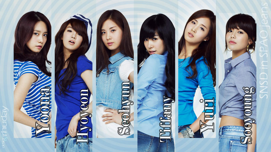 SNSD in SPAO jeans by rhuday