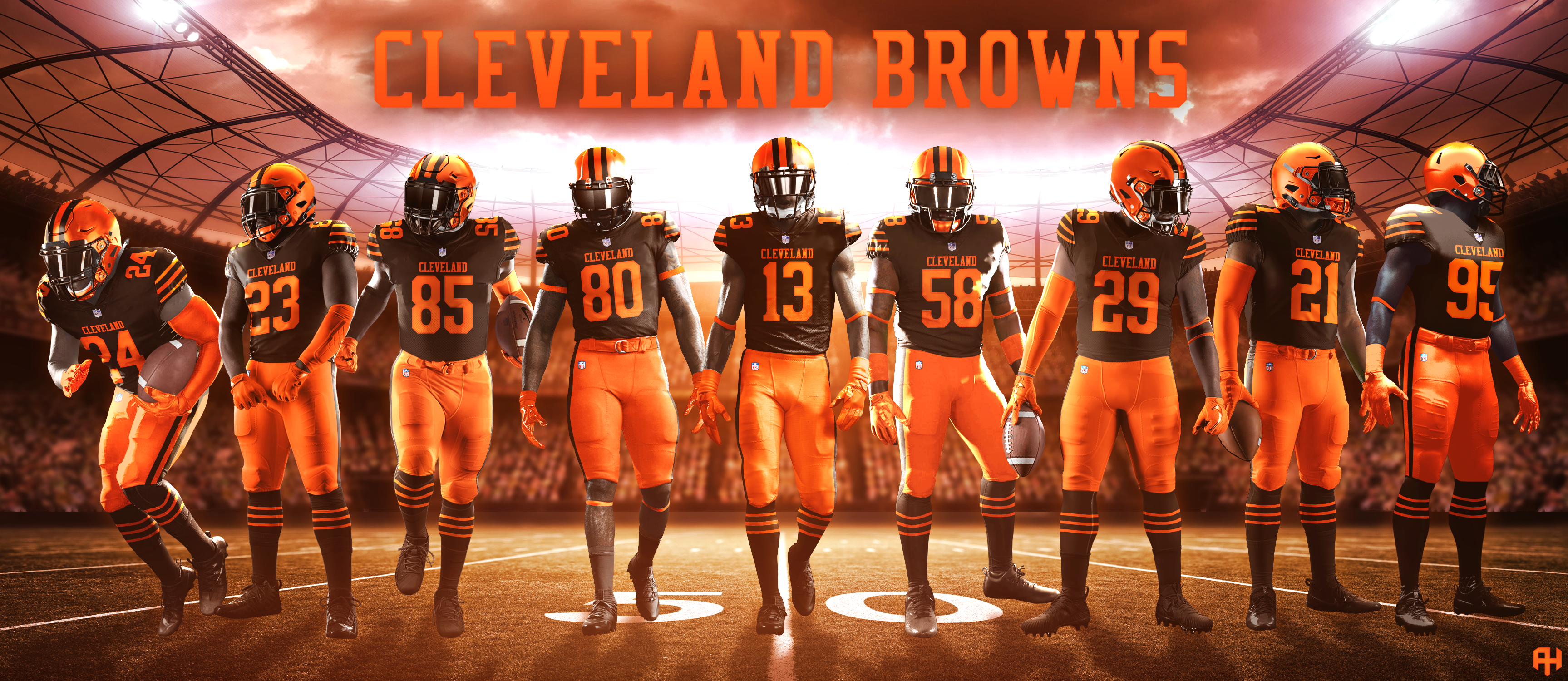 Browns Color Rush 2020.Cleveland Browns 2020 Concepts Chris Creamer S Sports