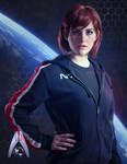 Commander Jane Shepard of The Systems Alliance