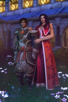 Wrathion and Lady Katrana Prestor