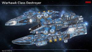 Scifi Destroyer Warhawk