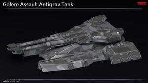 Scifi Golem Assault Antigrav Tank