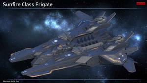 Scifi Frigate Sunfire