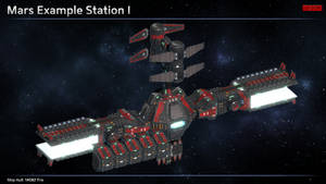Scifi Mars Space Station