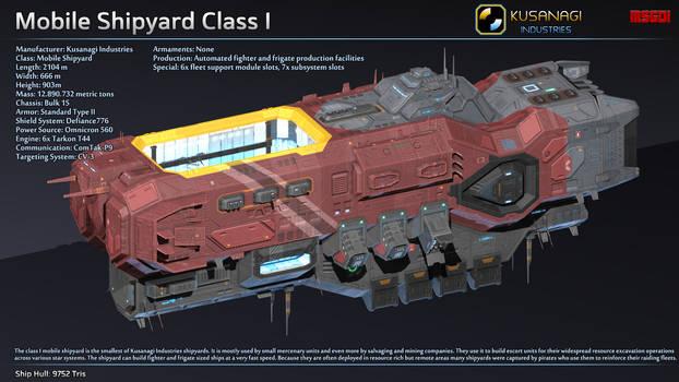 Scifi Mobile Shipyard Class I