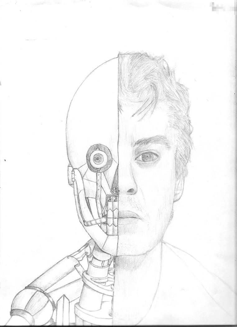Robot Half-Face by Ryuhza on DeviantArt