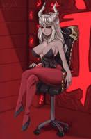 Helltaker Lucifer by vexo-r
