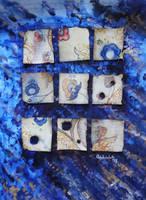 Blue Patchwork by Lanevska