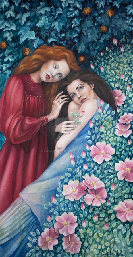 Snow White and Rose Red by Lanevska