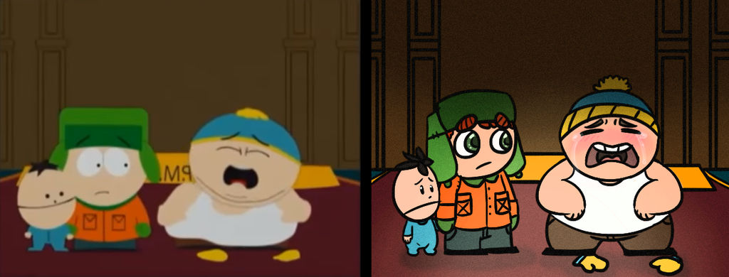 Christmas In Canada South Park.South Park Scene Redraw It S Christmas In Canada By