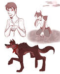 Coco - Werewolf AU Doodles