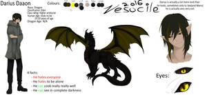 Darius Daaon- Reference sheet by Vesocile