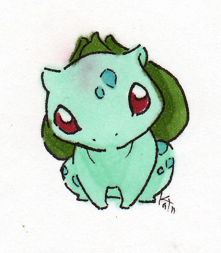 how to draw a cute bulbasaur