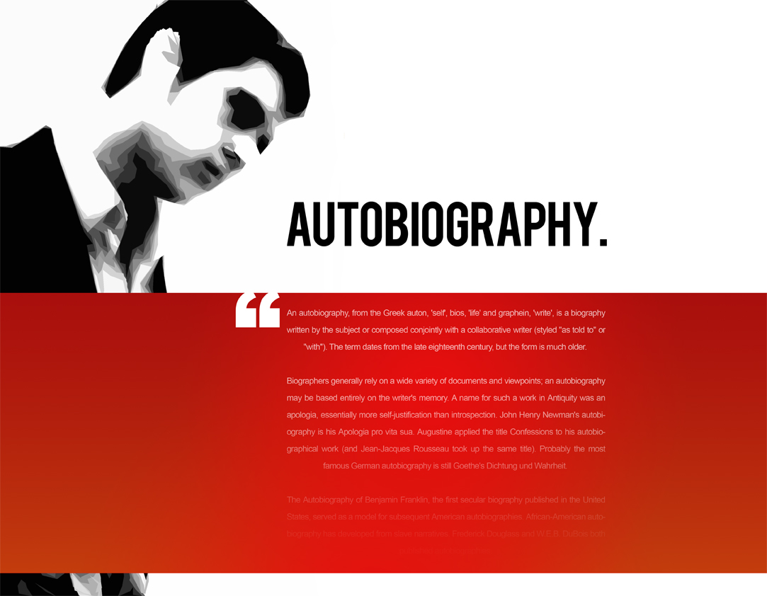 Autobiography - Front Cover by weyforth