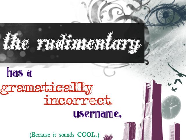 therudimentary's Profile Picture