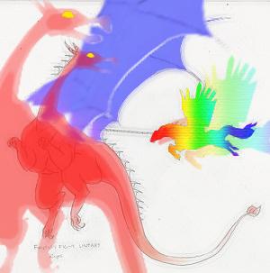 Dragon Fight by WildJack77