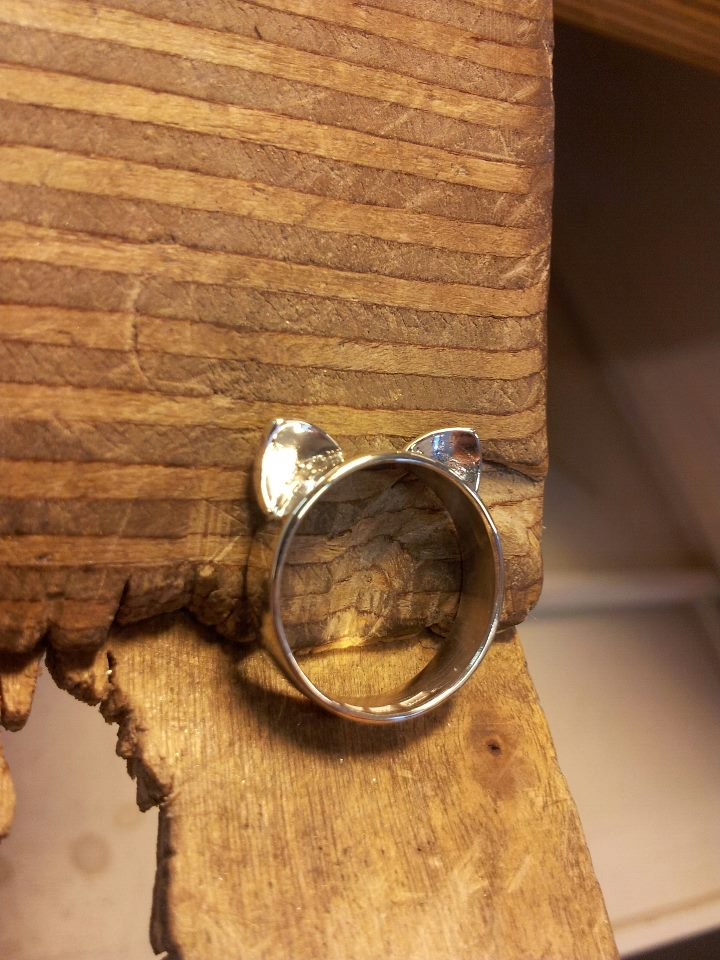 cat ring 925 silver by miinjaa