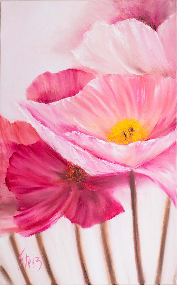 Pink Poppies by VladStelz