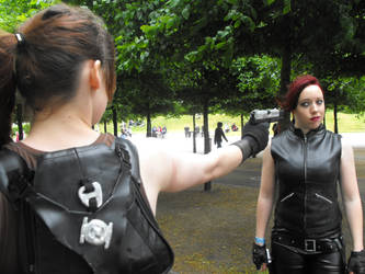 Lara confronts Doppelganger by Geena-x