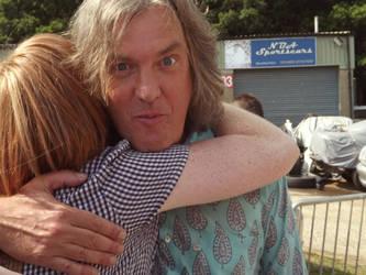 Hugging James May!!!
