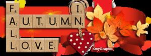Scrabble Love in Autumn