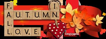 Scrabble Love in Autumn by KmyGraphic