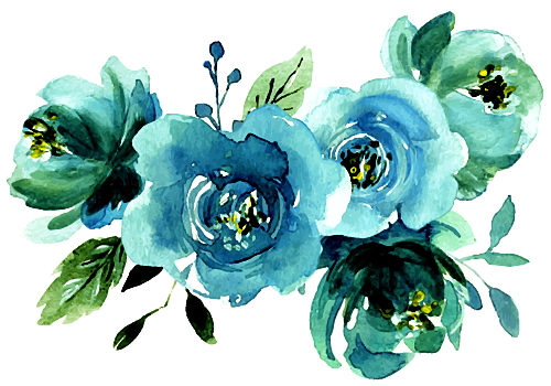 Blue flowers for you