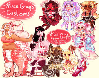 (ALL OPEN) $5-$20 Custom Commissions! by HoneyPrinceGray