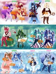 (7/9 OPEN) OTA Elemental Kitsune Triple big batch!