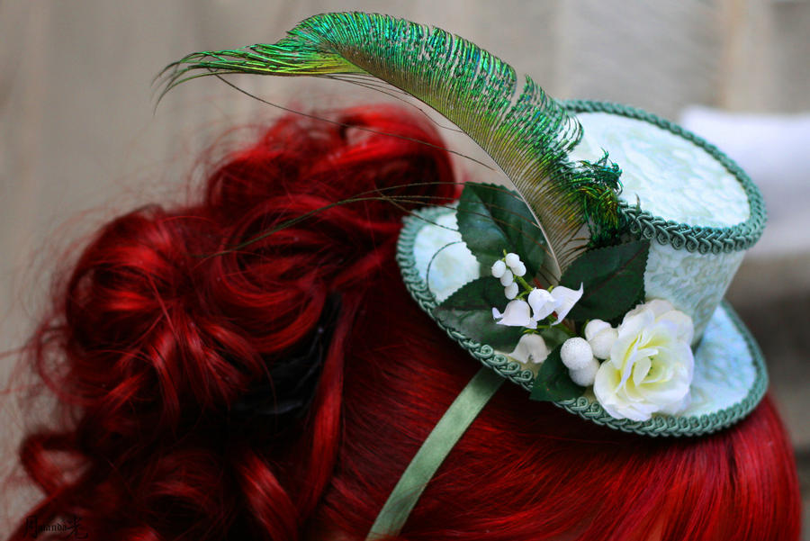 Secret Garden Misty Morning Mini Hat by ImperialFiddlesticks