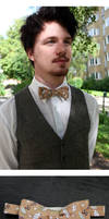 Brown Umbrella Standard Bow Tie