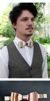 Caramel Stripes Standard Bow Tie