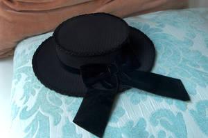 Velvet Dusk Mini Boater Hat