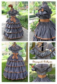 1860s inspired Steampunk Ballgown