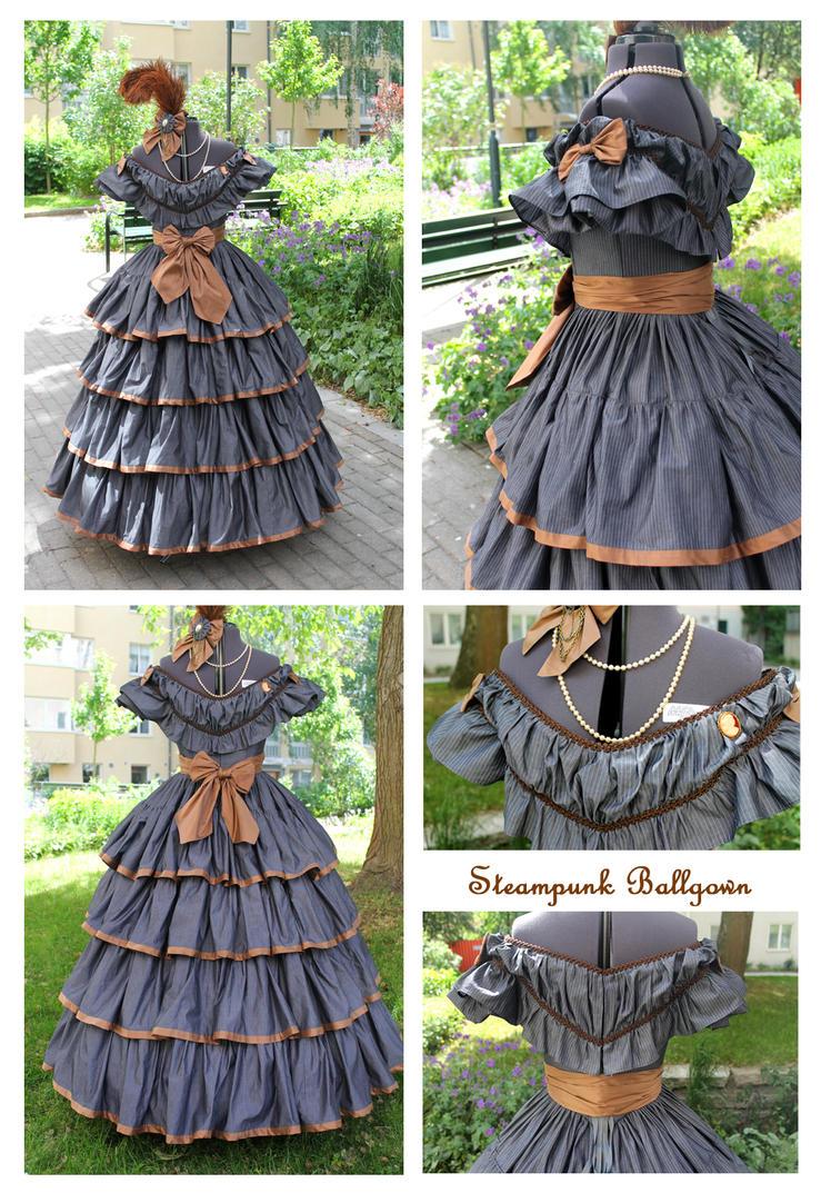 1860s inspired Steampunk Ballgown by ImperialFiddlesticks on DeviantArt