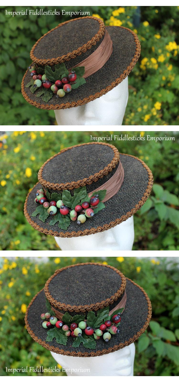 Nature's Harvest Mini Boater Hat