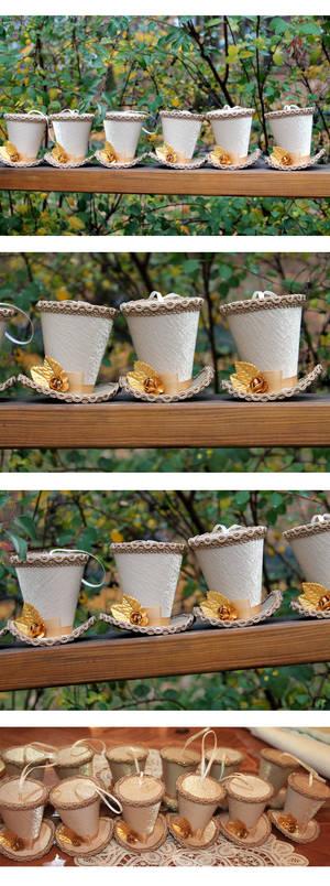 Golden Christmas Ornament Mini Hats