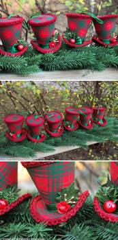 Christmas Ornament Mini Hats Commission