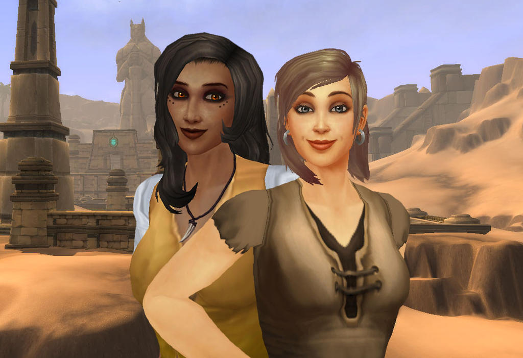 Leo and Nadi in Uldum by ImperialFiddlesticks