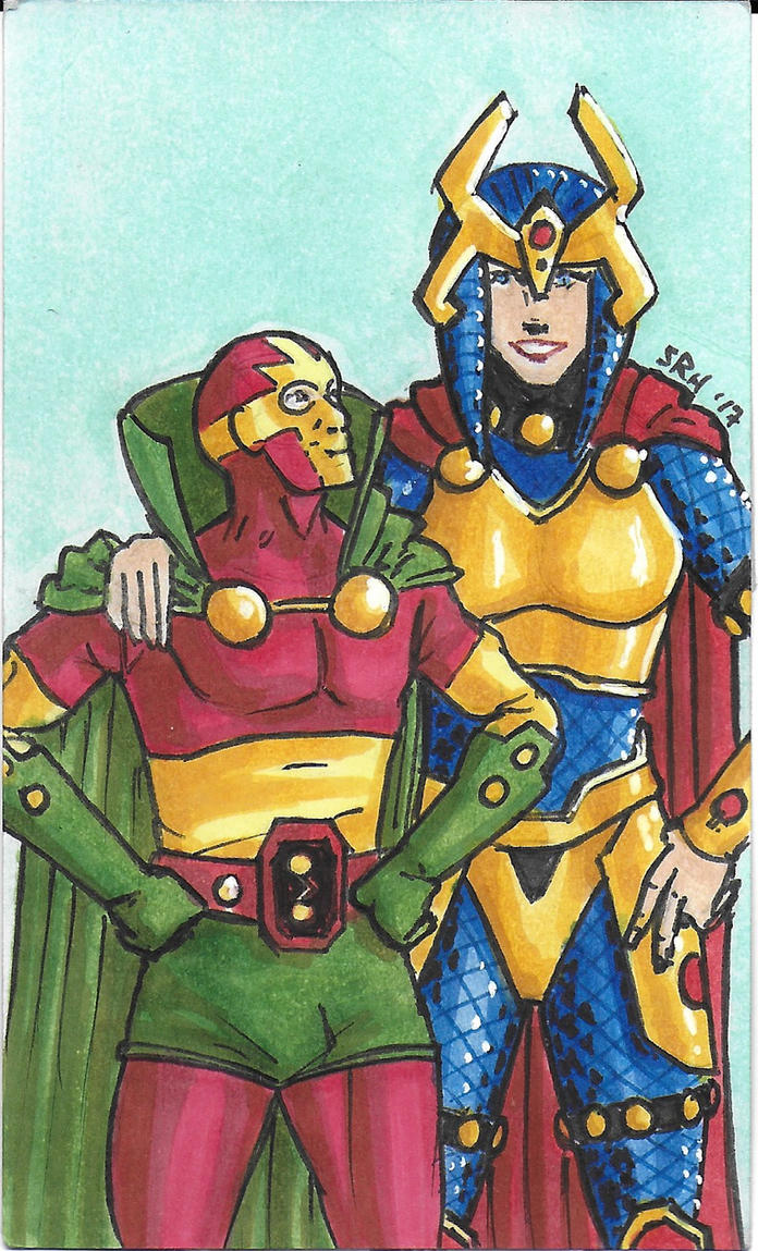 Mister Miracle and Big Barda by mmmmmpig