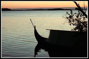 Sunset over lake Malaren