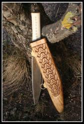 Anglo saxon seax sheath 2