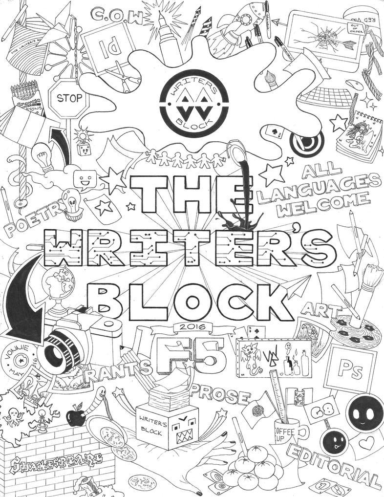 The Writer's Block Cover by vampsaiyain