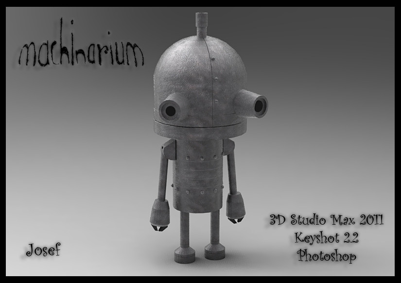 Machine - Machinarium 3d model by Akiratang