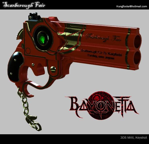 Bayonetta Scarborough Fair Gun by Akiratang