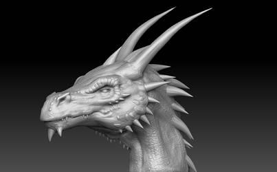 Dragon Head Sculpt by Akiratang