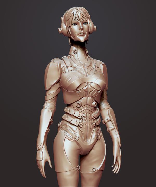 Sci Fi Soldier: Progress by Akiratang