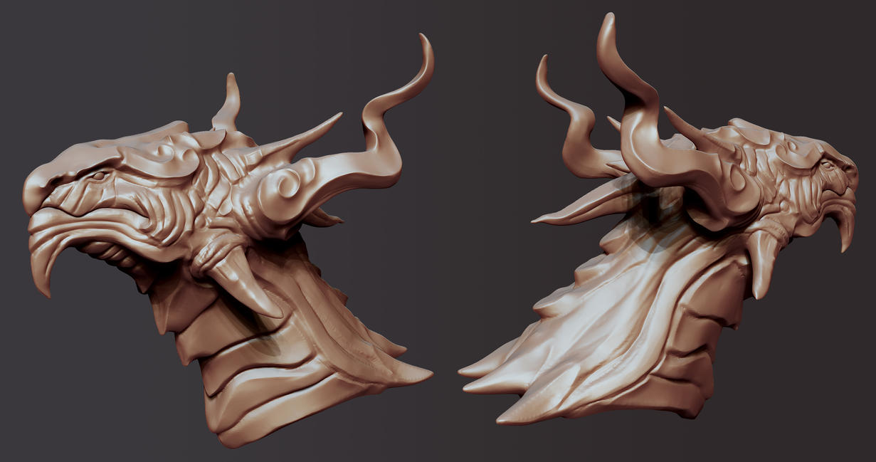 Dragon Head sculpt 3 by Akiratang
