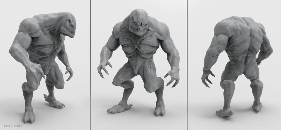 Alien Brute Sculpt by Akiratang